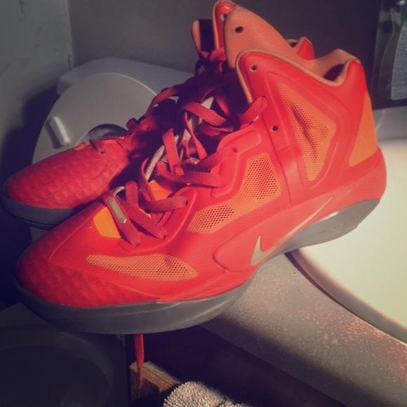 Bright Neon Orange Nike Hyperfuse 23